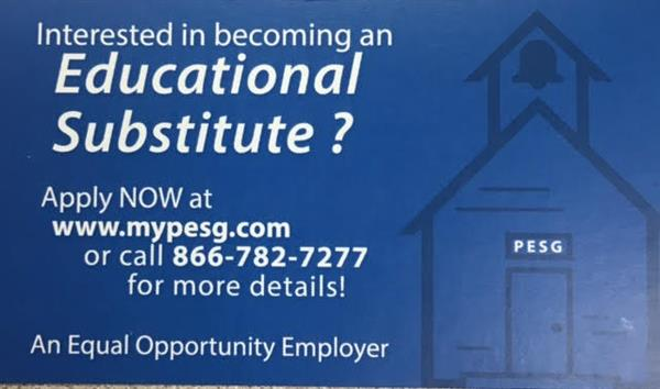 Become a Substitute Teacher!